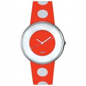 Alessi Watch - Luna - Red/White