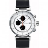 Issey Miyake Watch - 'W' - Leather - Black/White