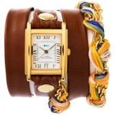 La Mer Watch - Brown Friendship Bracelet Wrap