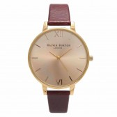 Olivia Burton Watch - Big Dial - Burgundy & Gold