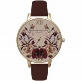 Olivia Burton Watch - Winter Garden - Mirror Floral Burgundy & Gold
