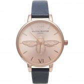 Olivia Burton Watch - Moulded Bee - Navy & Rose Gold