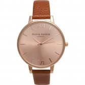Olivia Burton Watch - Big Dial - Tobacco & Rose Gold