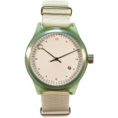 squarestreet Watch - Minuteman Two Hand - Pear Green
