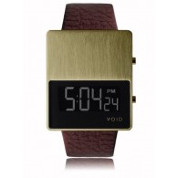 VOID V01 Watch - Gold/Brown