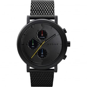 HYGGE Watch - 2204 Series - Mesh - Black/Black