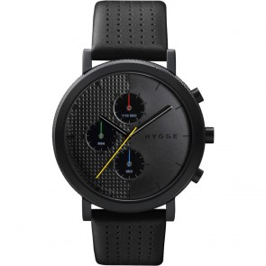 HYGGE Watch - 2204 Series - Leather - Black/Black