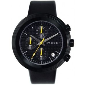 HYGGE Watch - 2312 Series - Leather - Black/Black