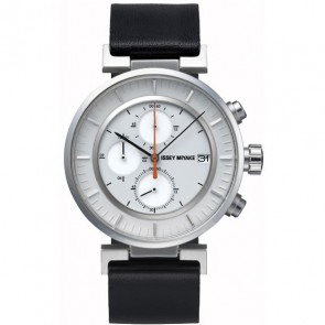 Issey Miyake Watch - 'W' - Leather - Black/Grey
