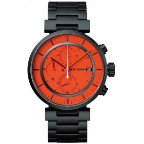 Issey Miyake Watch - 'W' - Steel - Black/Orange