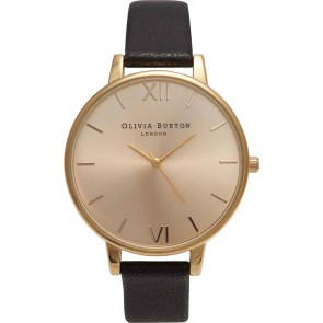 Olivia Burton Watch - Big Dial - Black & Gold