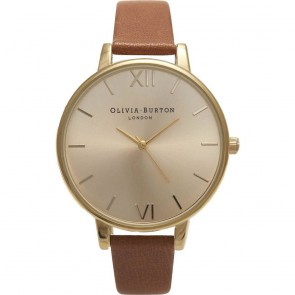 Olivia Burton Watch - Big Dial - Tan & Gold