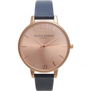 Olivia Burton Watch - Big Dial - Navy & Rose Gold