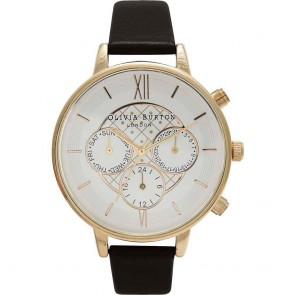 Olivia Burton Watch - Chrono Detail - Black & Gold