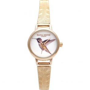 Olivia Burton Watch - Woodland - Mesh Hummingbird Rose Gold