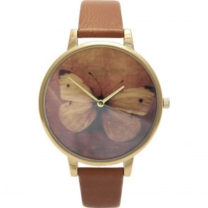 Olivia Burton Watch - Woodland - Butterfly Tan