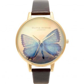 Olivia Burton Watch - Woodland - Butterfly Dark Chocolate