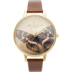 Olivia Burton Watch - Woodland - Butterfly Brown & Gold