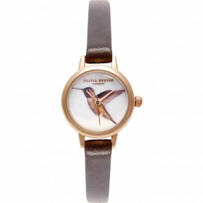 Olivia Burton Watch - Woodland - Mini Hummingbird Chocolate & Rose Gold