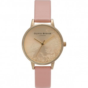 Olivia Burton Watch - Animal Motif - Multi Butterfly Dusty Pink & Gold