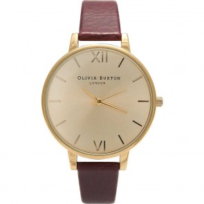Olivia Burton Watch - Big Dial - Oxblood & Gold