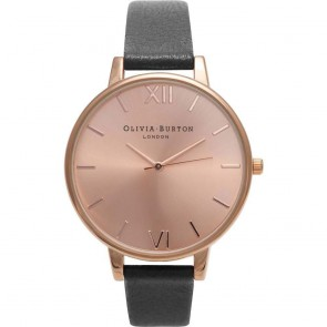 Olivia Burton Watch - Big Dial - Black & Rose Gold