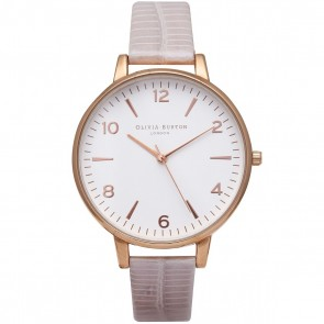 Olivia Burton Watch - Big Dial - Pearl Pink Croc & Rose Gold