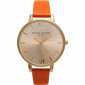 Olivia Burton Watch - Big Dial - Burnt Orange & Gold
