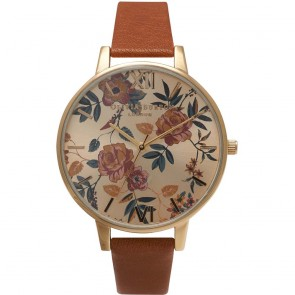 Olivia Burton Watch - Parlour - Floral Tan & Gold
