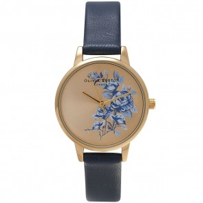 Olivia Burton Watch - Parlour - Floral Navy & Gold