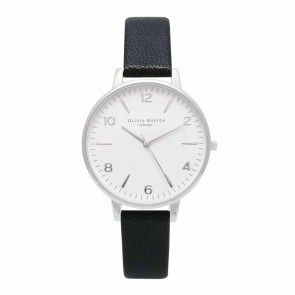 Olivia Burton Watch - White Dial - Midi Black & Silver