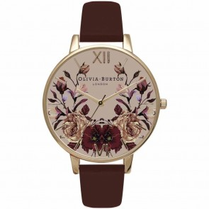 Olivia Burton Watch - Winter Garden - Mirror Floral Burgundy & Gold