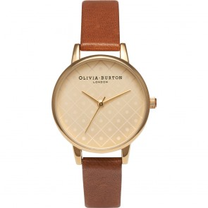 Olivia Burton Watch - Modern Vintage - Tan & Gold Dot Face