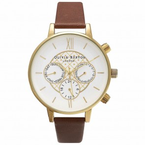 Olivia Burton Watch - Chrono Detail - Brown & Gold