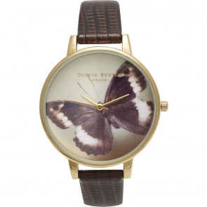 Olivia Burton Watch - Woodland - Butterfly Cognac