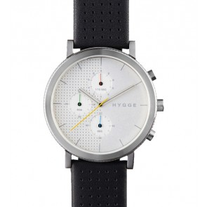 HYGGE Watch - 2204 Series - Leather - Silver/Silver