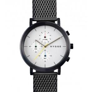 HYGGE Watch - 2204 Series - Mesh - Black/Silver